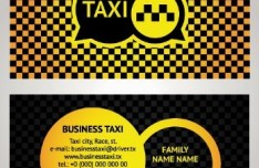 Vector Taxi Driver Business Card 03