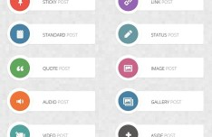 WordPress Post Format Icons (PNG+PSD)