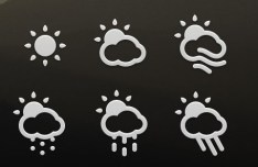 30+ Clean Weather App Icons PSD