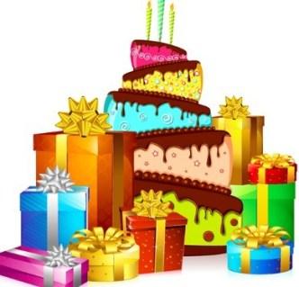 Cartoon Happy Birthday Elements Vector 01