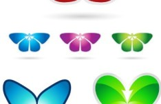 Vector Colorful Butterfly Designs & Illustrations 02