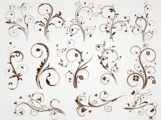 Vector Elegant Floral Patterns 01
