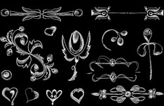 Vintage Hand Drawn Floral Borders Vector 02