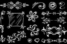 Vintage Hand Drawn Floral Borders Vector 04