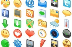 3D Glossy Web Icon Set