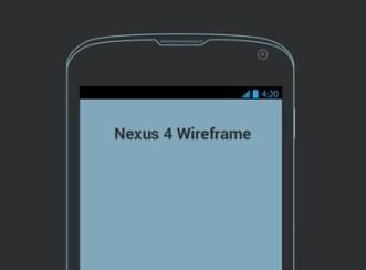 Nexus 4 Wireframe PSD