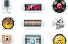 Vector Candy Radio Icons