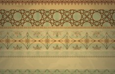 Vector Vintage Invitation Cards with Golden Lace Backgrounds 04