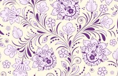 Elegant Hand Drawn Flowers Pattern Vector 01
