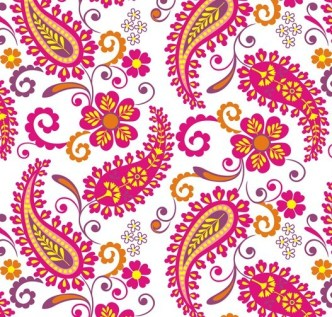 Elegant Hand Drawn Flowers Pattern Vector 05