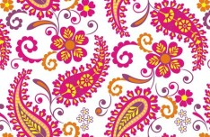 Elegant Hand Drawn Flowers Pattern Vector 05