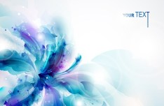 Elegant Splash Flowers Background Vector 03