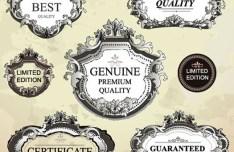 High Quality Vector Antique Label Set 01