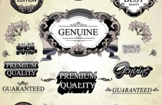 High Quality Vector Antique Label Set 03