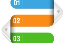 Colored Numeric Labels For Infographic 34