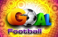 Colorful Football Goal Background Vector 03