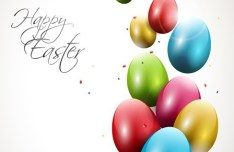 Elegant Happy Easter Eggs Desgin Vector 04