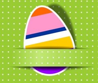 Elegant Happy Easter Eggs Desgin Vector 05