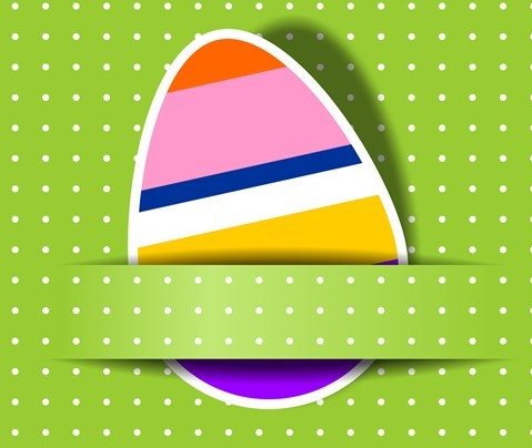 Elegant Happy Easter Eggs Desgin Vector 05
