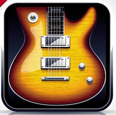 Elegant Vector Guitar App Icon
