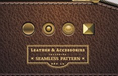 Seamless Leather and Accessories Patterns Vector 01