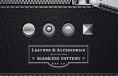 Seamless Leather and Accessories Patterns Vector 04