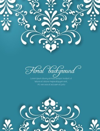 Vector White Floral Background 03