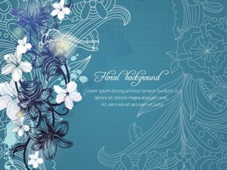 Vector White Floral Background 04