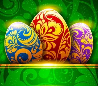 Elegant Happy Easter Card Templates Vector 05