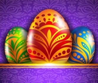 Elegant Happy Easter Card Templates Vector 06