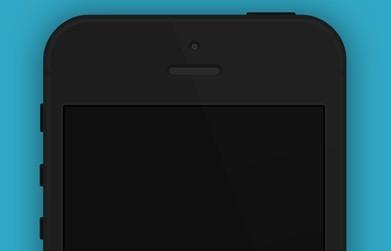 Flat Minimal iPhone 5 Template PSD