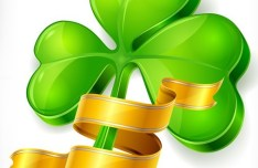 St.Patrick's Day Shamrock Template Vector 01