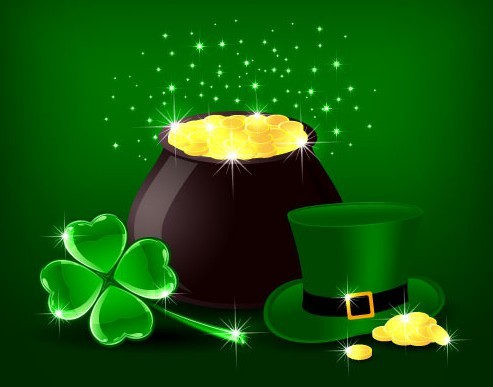 St.Patrick's Day Shamrock Template Vector 03