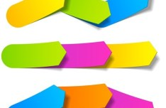 Vector Origami Infographic Option Labels 05