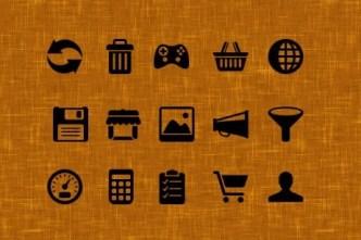 Flat Black Web Icon Set