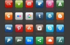 Glossy Social Media Icon Set