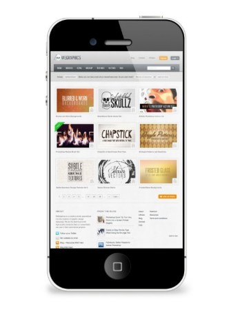 Simple iPhone 5 Mockup PSD