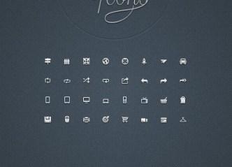 Mini Web Icon Set (AI + EPS + PSD + PNG) 03