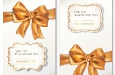 Vector Elegant Gift Card with Bow Design Template 02