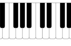 Vector Simple Piano Keyboard