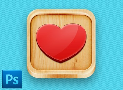 3D Wooden App Icon Template PSD