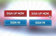 Chunky Sign UP Button Template PSD