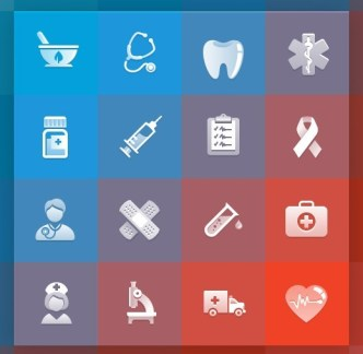 Elegant Medical Icons Pack (PNG + PSD + AI +EPS)