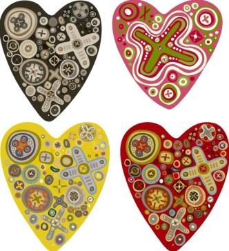 Lovely Vector Heart Design 05