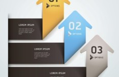 Vector Origami Infographic Option Labels 06