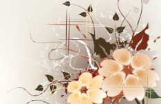 Artistic Vintage Floral Vector Background 01