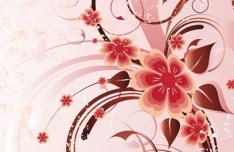 Artistic Vintage Floral Vector Background 04