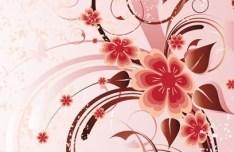 Artistic Vintage Floral Vector Background 04