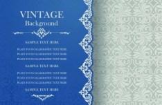 Pastel Vintage Floral Vector Borders and Frames 05
