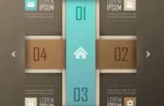 Fashion Vector Origami Option Labels For Infographic 06